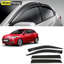Buy Unbreakable Hyundai Elite i20 Door Visors in ABS Plastic at low prices-RideoFrenzy