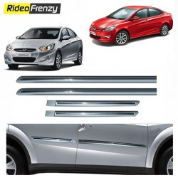 Buy Hyundai VERNA Fluidic Silver Chromed Side beading at low prices-RideoFrenzy