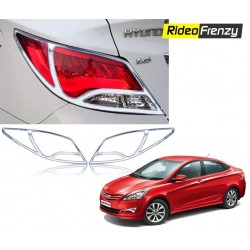 Buy Hyundai Verna Fluidic Chrome Tail Light Covers at low prices-RideoFrenzy