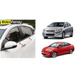 Buy Hyundai Verna Fluidic Chrome Window Trim Garnish at low prices-RideoFrenzy