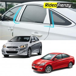 Buy Hyundai Verna Fluidic Chrome Pillar Set at low prices-RideoFrenzy