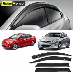 Buy Unbreakable Hyundai Verna Fluidic Door Visors in ABS Plastic at low prices-RideoFrenzy