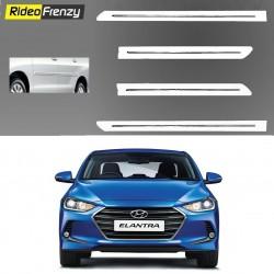 Buy Hyundai Elantra White Chromed Side Beading at low prices-RideoFrenzy