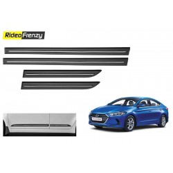 Buy Hyundai Elantra Black Chromed Side Beading at low prices-RideoFrenzy