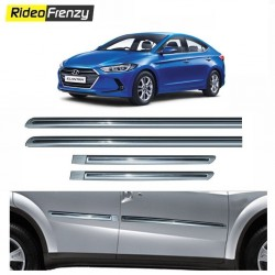 Buy Hyundai Elantra Silver Chromed Side Beading at low prices-RideoFrenzy