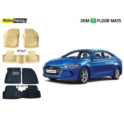 Buy Hyundai Elantra Ultra Light Bucket 4D Crocodile Floor Mats at low prices-RideoFrenzy