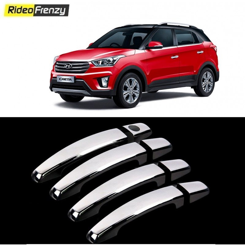 Buy Hyundai Creta Door Chrome Handle Covers at low prices-RideoFrenzy
