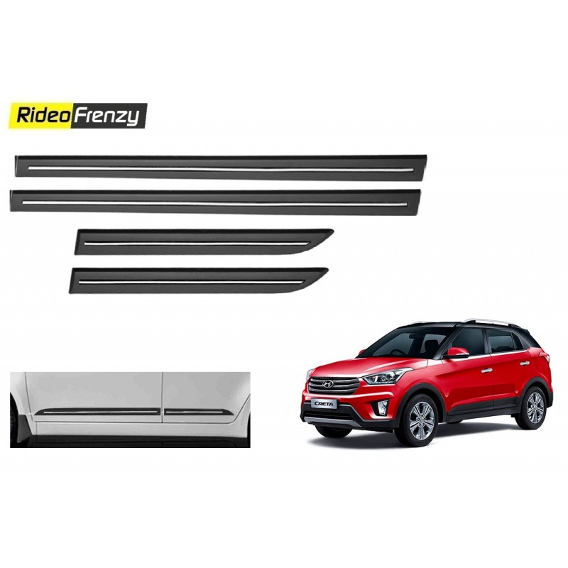 Buy Hyundai Creta Black Chromed Side Beading at low prices-RideoFrenzy