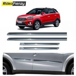 Buy Hyundai Creta Silver Chromed Side Beading at low prices-RideoFrenzy
