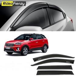 Buy Unbreakable Hyundai Creta Door Visors in ABS Plastic at low prices-RideoFrenzy