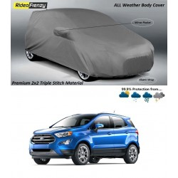 Buy Premium Fabric Ford Ecosport Body Cover with Side Mirror Pockets at low prices-RideoFrenzy