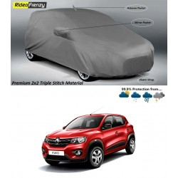 Buy Premium Fabric Renault Kwid Body Covers with side Mirror Antenna Pockets at low prices-RideoFrenzy