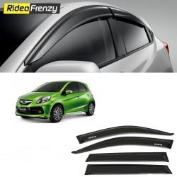 Buy Unbreakable Honda Brio Door Visors in ABS Plastic at low prices-RideoFrenzy