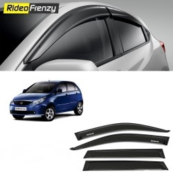 Buy Unbreakable Tata Indica Vista Door Visors in ABS Plastic at low prices-RideoFrenzy