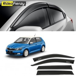 Buy Unbreakable Skoda Fabia Door Visors in ABS Plastic at low prices-RideoFrenzy