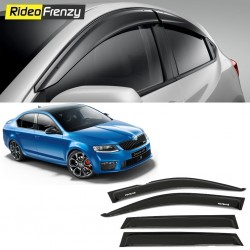 Buy Unbreakable Skoda Octavia Door Visors in ABS Plastic at low prices-RideoFrenzy
