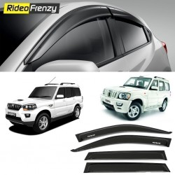 Buy Unbreakable Mahindra Scorpio Door Visors in ABS Plastic-6 pcs at low prices-RideoFrenzy