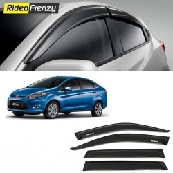Buy Unbreakable New Ford Fiesta Door Visors in ABS Plastic at low prices-RideoFrenzy