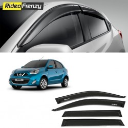 Buy Unbreakable Nissan Micra Door Visors in ABS Plastic at low prices-RideoFrenzy