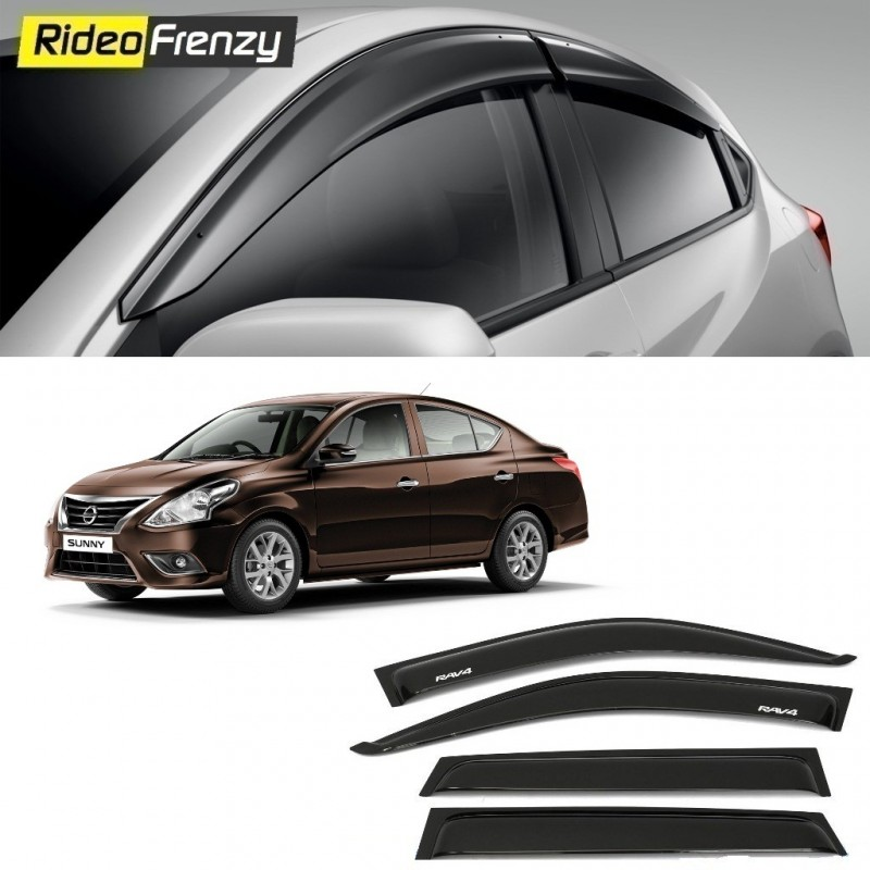 Buy Unbreakable Nissan Sunny Door Visors in ABS Plastic at low prices-RideoFrenzy