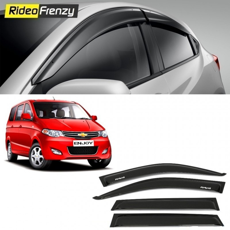 Buy Unbreakable Chevrolet Enjoy Door Visors in ABS Plastic at low prices-RideoFrenzy