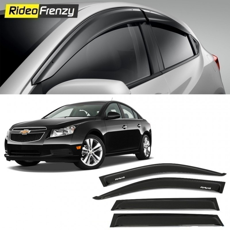 Buy Unbreakable Chevrolet Cruze Door Visors in ABS Plastic at low prices-RideoFrenzy