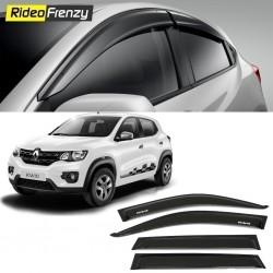 Buy Unbreakable Renault Kwid Door Visors in ABS Plastic at low prices-RideoFrenzy