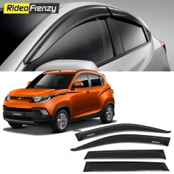 Buy Unbreakable Mahindra KUV100 Door Visors in ABS Plastic at low prices-RideoFrenzy