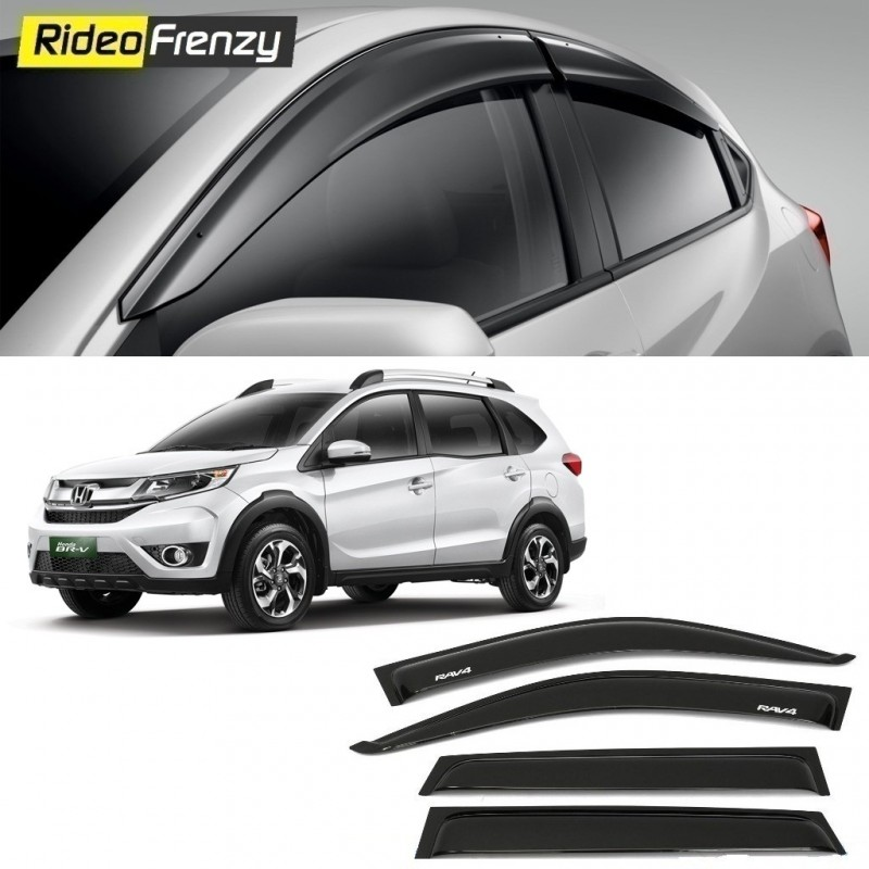 Buy Unbreakable Honda BRV Door Visors in ABS Plastic at low prices-RideoFrenzy