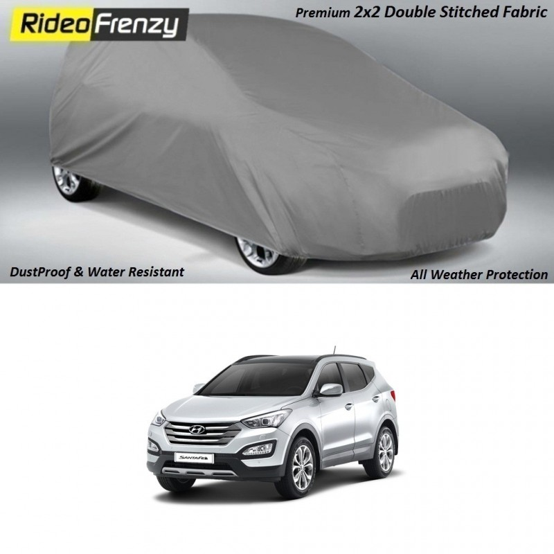 Buy Heavy Duty Double Stiching Hyundai Santa Fe Body Covers at low prices-RideoFrenzy