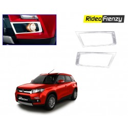 Buy Vitara Brezza Chrome Fog Lamp Cover Garnish at low prices-RideoFrenzy