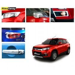 Buy Maruti Vitara Brezza Chrome Combo Kit-Headlights.Tail lights,Mirror covers,Handle covers etc at low prices-RideoFrenzy