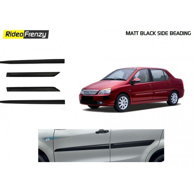 Original Matt Black Side Beading for Tata Indigo