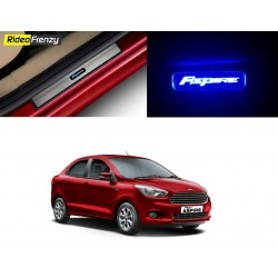 Buy Figo Aspire Stainless Steel Sill Plate with Blue LED at low prices-RideoFrenzy