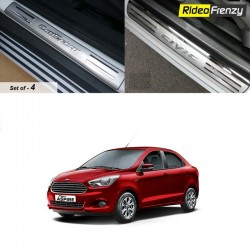 Buy Door Stainless Steel Figo Aspire Sill Plate at low prices-RideoFrenzy