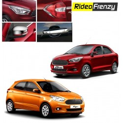 Buy Figo Aspire/New Figo Chrome Combo Set of headlight,Tail lights,Mirror covers,Handles at low prices-RideoFrenzy