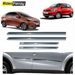 Buy Tata Tiago & Tigor Silver Chrome inserted Side Beading at low prices-RideoFrenzy