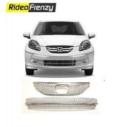 Buy Honda Amaze Old Model Front Chrome Grill Covers at low prices-RideoFrenzy