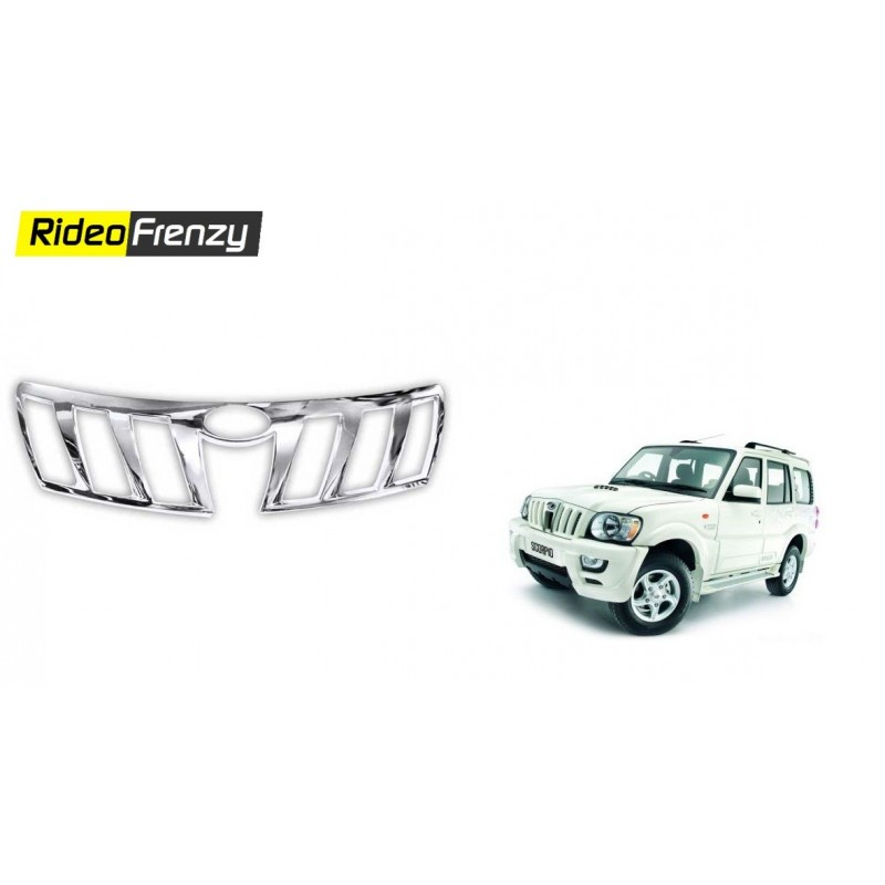 Buy Mahindra Scorpio Front Chrome Grill Covers at low prices-RideoFrenzy