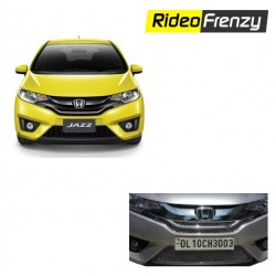 Buy Premium Glossy Honda Jazz Chrome Grill Covers (upper+lower) at low prices-RideoFrenzy