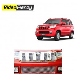 Buy Premium Finish Mahindra TUV300 Chrome Grill at low prices-RideoFrenzy