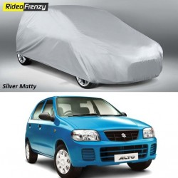 Buy Heavy Duty Silver Matty Maruti Alto Car Body Cover at low prices-RideoFrenzy