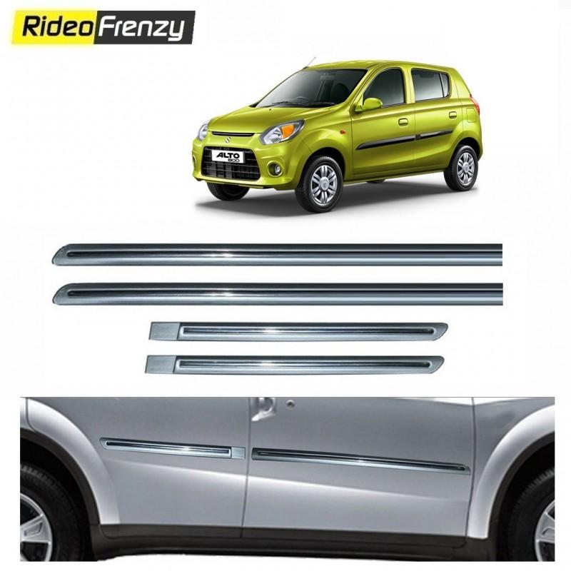 Buy Maruti Alto 800 Silver Chrome Side beading at low prices-Rideofrenzy