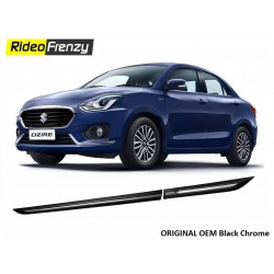 Buy Original OEM New Dzire 2017 Black Chromed Side Beading at low prices-RideoFrenzy
