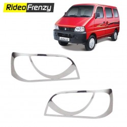 Buy Premium Maruti Eeco Chrome HeadLight Cover online at low prices-RideoFrenzy
