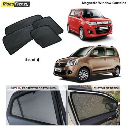 Buy Maruti WagonR & Stingray Magnetic Car Window Sunshade at low prices-RideoFrenzy
