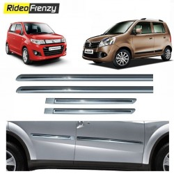 Buy Maruti WagonR & Stingray Silver Chrome Side beading online at low prices-RideoFrenzy