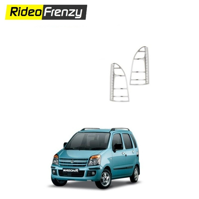 Buy Maruti WagonR type2 Chrome Tail Light Cover at low prices-RideoFrenzy