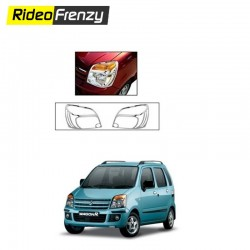 Buy Maruti WagonR type-2 Chrome head light Covers online at low prices-RideoFrenzy