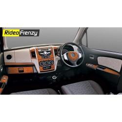 Maruti WagonR Wooden Dashboard Trim Kit Online-RideoFrenzy